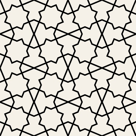 アラビア語のシームレスな髪飾り。抽象的なベクトルの背景。  イラスト・ベクター素材