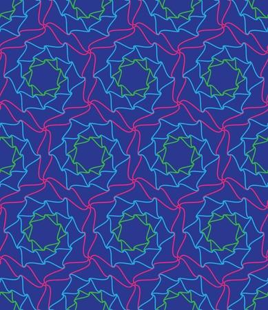 ベクターのシームレスなパターン。抽象的なサイケデリックな背景