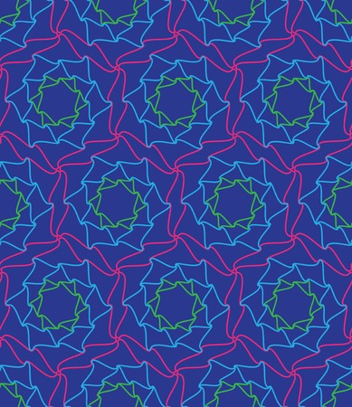 Vector seamless pattern. Abstract psychedelic background
