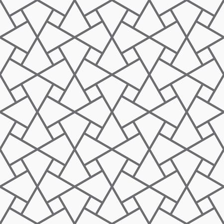 Vector seamless pattern. Modern geometric texture. Opt Art