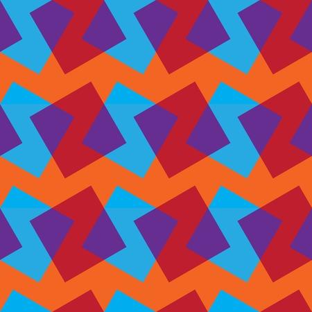ベクトル色四角形でシームレスなパターン。モダンな幾何学的なテクスチャー。アートを選ぶ