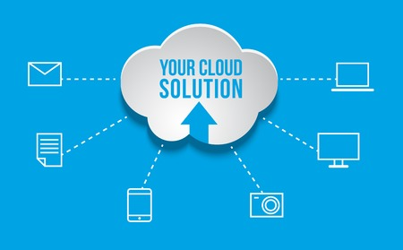 Cloud Computing concept background with icons