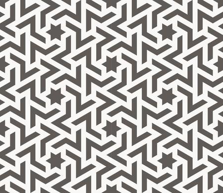 Vector seamless pattern. Arabic geometric texture. Islamic Art Illustration