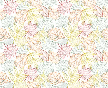 leaf texture  seamless foliage autumn pattern Ilustrace