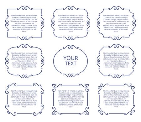 ヴィンテージ アルバム ページ フレーム、写真枠ベクター装飾的要素
