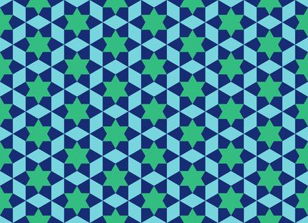 イスラムのラマダンのシームレスなパターン。アジア テクスチャ デザイン  イラスト・ベクター素材
