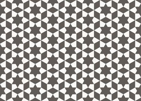 アラビア語ジオメトリ イスラム教パターンでシームレスな背景。アラベスクの壁の装飾  イラスト・ベクター素材