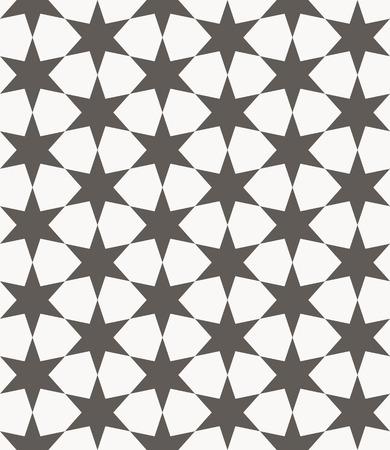 モロッコのアラビア語の宗教的な観賞用ベクターのシームレスなパターン。アラブ建築の背景
