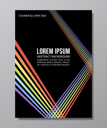 トレンディなベクトルの背景を抽象化します。レインボー光線の 90 年代スタイルでゲイプライド ポスター デザイン  イラスト・ベクター素材
