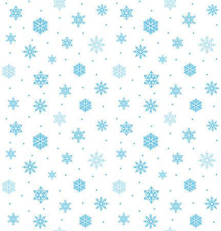 美しいスノーフレーク ベクターのシームレスな背景ハッピー クリスマス ラッピング デザイン