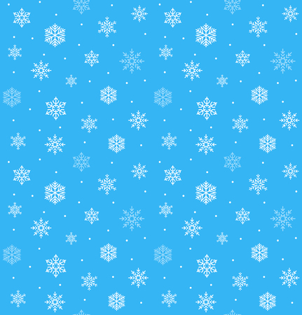 snowflake vector seamless pattern. happy xmas snow decoration Ilustrace