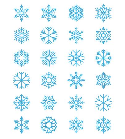クリスマス、つや消しのシンプルな雪片ベクトル クリスマス サインに分離ホワイト  イラスト・ベクター素材