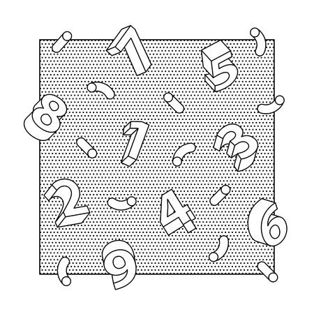 3 D 数字の抽象ベクトル線美術背景  イラスト・ベクター素材