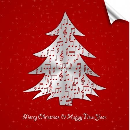 gratulation: puzzle christmas tree for pleasure Stock Photo