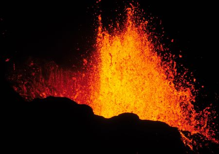 volcano: volcano eruption Stock Photo