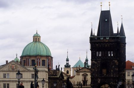 dome type: Details of Prague city 4 Stock Photo