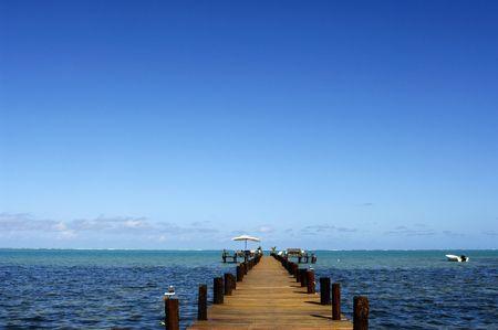 a hotel pontoon in Madagascar 3 photo
