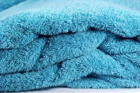 turqoise: Turqoise towel for bath or spa