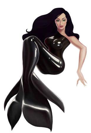 tail: tail beautiful mermaid art