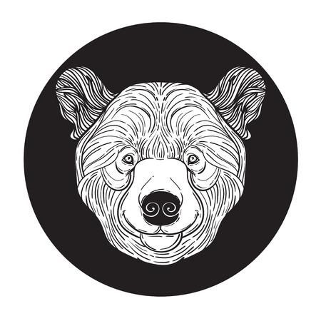 Impresión De La Cabeza De Los Animales De Peluche Del Oso De La ...