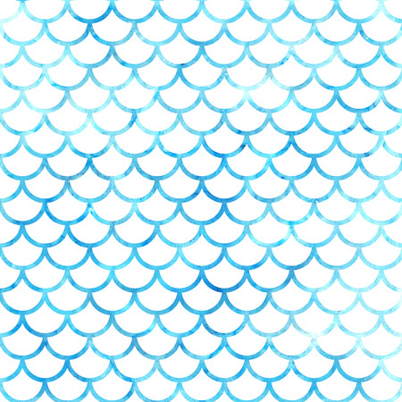 Mermaid scales. Watercolor fish scales. Bright summer pattern with reptilian scales.