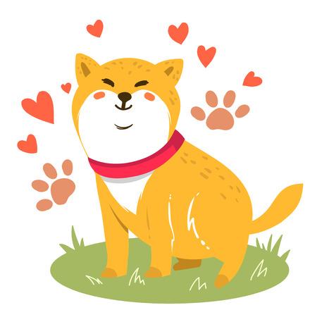 Leuke grappige cartoon honden vector puppy huisdier tekens verschillende broden hondje illustratie. Harige menselijke vrienden huisdieren Vector Illustratie