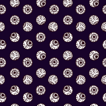 Seamless pattern in the style of psychedelic eyes. Pattern for fashion with eyes. Modern design for the fabric. The template for the cover fabric.
