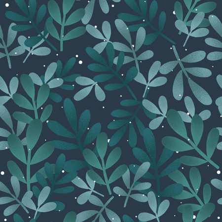 seamless cute pattern of a winter forest. Christmas card. Stock Photo