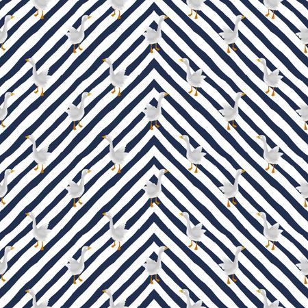 Seamless pattern with a bird. Farm ducks. Reklamní fotografie
