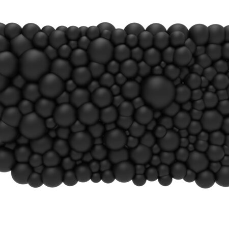 Bubble gum. 3d black pearls. Background pattern.