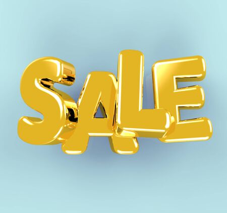 Sale. Volumetric letters. Discount. Stockfoto