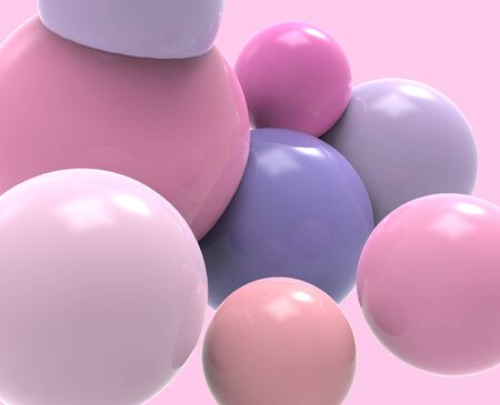 Bubble gum. 3d bubbles. Background pattern. Stockfoto