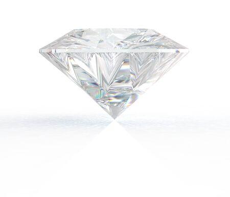 3d render gemstone. Diamond jewel on background. Imagens