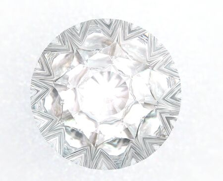 3d render gemstone. Diamond jewel on background.