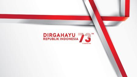 17. August. Indonesien Happy Independence Day Grußkarte, Banner und Textur-Hintergrundlogo