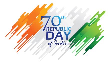 Affiche créative, bannière ou dépliant pour la célébration de la fête de la République de l'Inde le 26 janvier avec un design moderne Vecteurs
