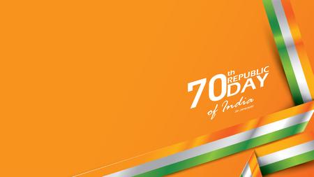 Bonne fête de la République indienne Illustration vectorielle ou arrière-plan pour l'affiche de la célébration du 26 janvier ou l'arrière-plan de la bannière