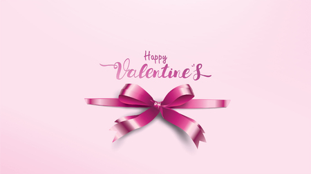 Beautiful Valentine's Day background with violet silk tie ribbons for gift label or cover sign suitable for copy space text Wallpaper, flyers, invitation, posters, brochure, banners