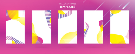 wave liquid template collection with gradient splashes for story, can use for sale banner background, photo, summer sale , website, mobile app, poster, flyer, coupon, gift card - Vector Banque d'images - 123253721