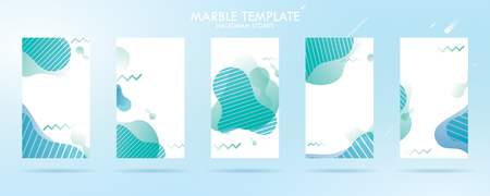 wave liquid template collection with gradient splashes for story, can use for sale banner background, photo, summer sale , website, mobile app, poster, flyer, coupon, gift card - Vector Banque d'images - 123253949