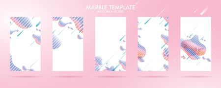 wave liquid template collection with gradient splashes for story, can use for sale banner background, photo, summer sale , website, mobile app, poster, flyer, coupon, gift card - Vector Banque d'images - 123254869