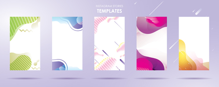 story with wave liquid and gradient splashes collection for , can use for sale banner background, photo, summer sale , website, mobile app, poster, flyer, coupon, gift card - Vector Banque d'images - 123254926