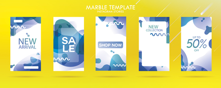 story with wave liquid and gradient splashes collection for , can use for sale banner background, photo, summer sale , website, mobile app, poster, flyer, coupon, gift card - Vector Banque d'images - 123255276
