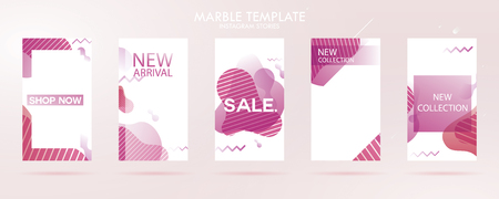 story with wave liquid and gradient splashes collection for , can use for sale banner background, photo, summer sale , website, mobile app, poster, flyer, coupon, gift card - Vector Banque d'images - 123255330