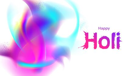 Abstract colorful explosion powder holi festival background for copy space for text. Color festival of India celebration greetings, invitation, poster. - Vector
