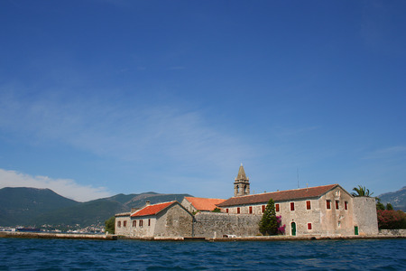 hiils: Church built on island in the Boka Kotorska bay