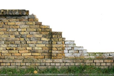 muro rotto: Vecchia parete isolato rotto con un sacco di spazio copia per i progettisti