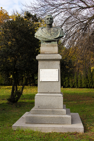 ww1: Monument of Eremia Grigorescu, Romanian genera during WW1 aka Hero of Marasesti. He has defeat Imperial German troops led by general Mackensen