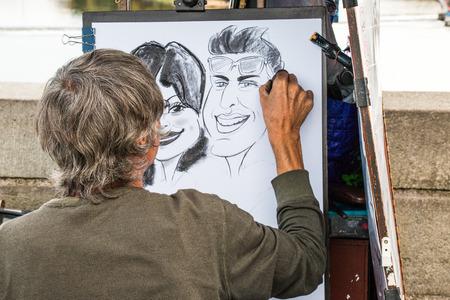 직장에서 거리 예술가