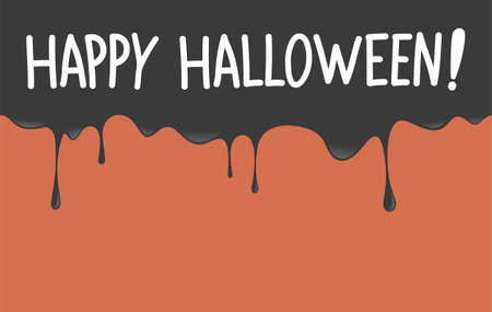 Happy halloween lettering with splash dripping background.Vector happy halloween illustration from halloween collection. Illustration